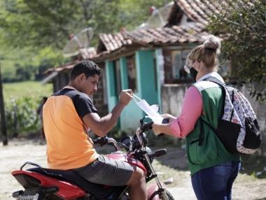 SMS realiza ação de combate à Covid-19 na zona rural de Palmeira