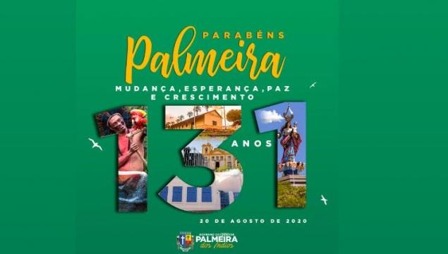 Prefeitura realizará agenda intensa de trabalho em comemoração aos 131 anos de Palmeira dos Índios