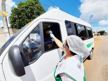 SMS inicia barreira sanitária para monitorar transportes alternativos, em Palmeira