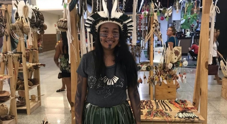 Indígenas de Palmeira expõem arte em Shopping de Maceió