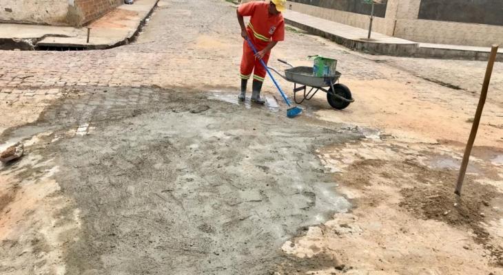 Prefeitura de Palmeira inicia Operação Tapa-Buracos em vários pontos da cidade