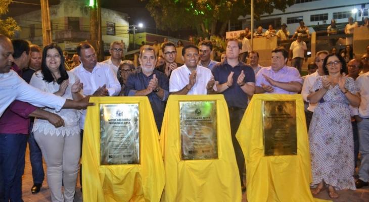 Prefeito Júlio inaugura obras no Centro de Palmeira dos Índios