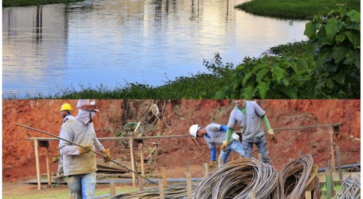 Obras do Lago do Goiti avançam em Palmeira dos Índios