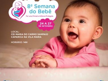 Prefeitura de Palmeira realizará a 8ª Semana do Bebê